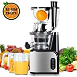 Aobosi Entsafter Slow Juicer 80mm Wide Mouth Entsafter Edelstahl Profi...