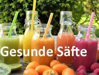 Fruchtsaft zu Hause frischer Saft aus dem Entsafter